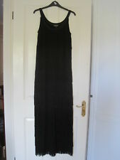 Phase Eight Black Fringe Dress Size 10