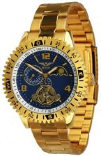 Minoir Uhren - Modell Amalfi gold / blau Automatikuhr Herrenuhr