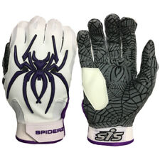 Spiderz HYBRID Batting Gloves – Haze Whiteout (White/Purple) EXTRA LARGE, new
