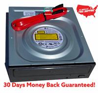 LG Internal SATA 24x DVD CD +/-R RW DL Disc Burner Re-Writer Drive w/Sata Cable.