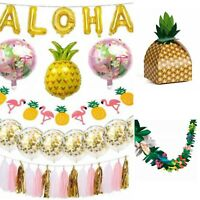 Aloha Tropical Pineapple Flamingo Hawaiian Luau Beach Theme Party Pack