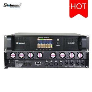 Sinbosen Dsp20000q 4 Chan Power Amplifier, each 4kw. DSP touchscreen, week deliv