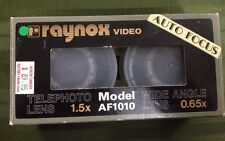 Raynox AF1010 Tele Wide Video Kit Auto Focus 0.65x 1.5x Telephoto Lens Camcorder
