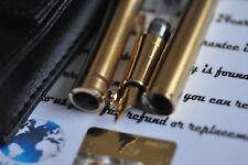 24K Gold Plated Fountain Pen nib medium Classic BAOER 3035 Metal Leather Case