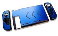 Nintendo Switch Console Blue Aluminium Metallic Shell Case Protector UK Seller