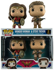 FUNKO POP DC WONDER WOMAN MOVIE WONDER WOMAN AND STEVE TREVOR 2 PACK EXCLUSIVE