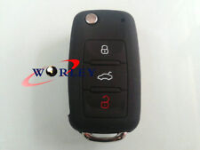 Black Silicone Key Remote Case Cover VW Golf Polo Boro Beetle Touran MK4 MK5 GTI