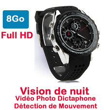 Montre Caméra Espion 8 Go Full HD Vision Nocturne Détecteur de Mouvements