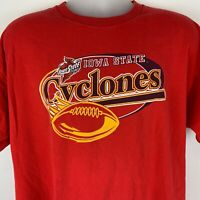 Iowa State Cyclones Football XL X-Large T Shirt NCAA College Red Graphic Tee