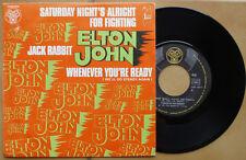 ELTON JOHN Saturday Night's allright for fighting + 2  DJM 17614 TBE