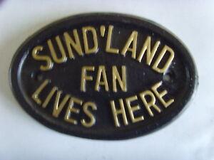 SUNDERLAND BLACK CATS  FAN FOOTBALL PLAQUE SIGN