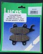 PASTILLAS FRENO LUCAS MCB 663 HONDA VT125C,XL125V Varadero,XL 125VT,JC32,JC31