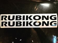 "X2 24"" RUBIKONG Hood Decal Sticker Vinyl COLORS Stock Size TJ JK Unlimited"