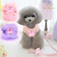 Lace Pink Dog Harness Leash Small Puppy Cat Walking Safety Control Vest XS-XL