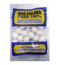 40pz NAFTALINA PURA 100% a palline 100g per guardaroba evapora completamente