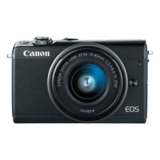 Canon EOS M100 Mirrorless Digital Camera with 15-45mm EF-M IS STM Lens Black