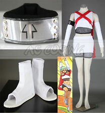Anime Naruto Fuu Cosplay Costume Full Set Outfit Halloween Women Dress Custom