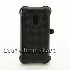 Ballistic Tough Jacket Maxx Case w/Belt Clip fo Moto Motorola G4 Play Black NEW
