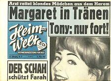 Zeitschrift HEIM UND WELT, Nr 11 von 1961, Cover Christine Kaufmann; Schah Farah