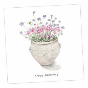 Crumble and Core   HAPPY BIRTHDAY CARD    Terracotta Flower Pot