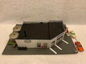 HO Scale Packard Motors Esso Service Station Wood Kit Custom Assembled