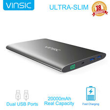 Vinsic 15000mAh Power Bank External Portable Charger for iPhone Samsung Huawei