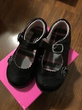 Girls Size 7 Black Flats Made By French Toast