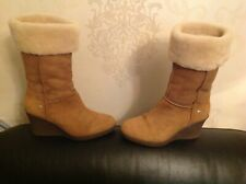 Size 5 Biker Style UGG Wedge Boots , Lovely Condition