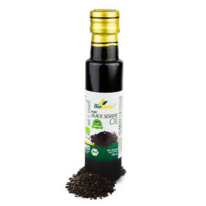 Certified Organic Cold Pressed Black Sesame Oil 100ml Biopurus