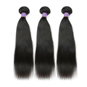 Malaysian Straight Hair 3 Bundles 100% Human Hair Bundles Extensions Hair Weave