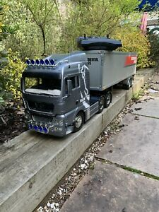 Tamiya Man 1/14 Scale Truck Beier USM RC2 With Box Trailer RTR Superb