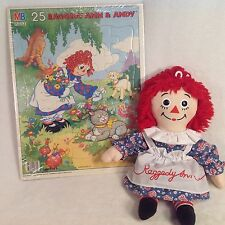 "RAGGEDY ANN DOLL PLUSH 15"" APPLAUSE 2002, SEALED 1988 Vintage PUZZLE 14.5""x11.5"""