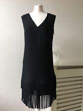 Next Black Tassell Shift Dress Art Deco 20s Look Oversized 6/8/10 RRP £60