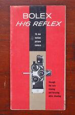 BOLEX H-16 REFLEX SALES BROCHURE, 24 PANEL FOLD OUT/185026