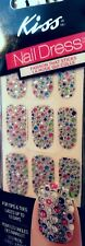 KISS Nail Dress Tips /Toes Full Manicure Appliques / Jewelled Stickers in GOWN