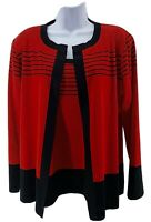 Exclusively Misook TwinSet Acrylic Cardigan Tank Top Set Women's Size M/L