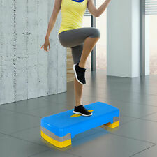 "Aerobic Stepper 27"" Cardio Platform Fitness Step 4""- 6"" Adjustable w/ Risers"