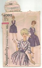 Vintage 60s Dress Pinafore Rockabilly Sewing Simplicity 4092 Pattern Sweep B38
