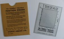 """Thirkell"" Philatelic Position Finder by Stanley Gibbons."