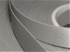 "5 Yards 6mm Dark Silver Satin Ribbon Scrapbook Wedding Embroid 1/4 "" 4.522 Mtr"