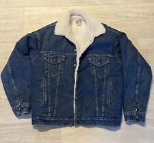 Vintage Levis Mens Denim Trucker Jean Jacket Sheepskin Sherpa Lined Size M USA