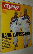 EQUIPE MAGAZINE N°558 1992 HANDBALL VOLLE COSTANTINI LATHOUD EDBERG F1 MANSELL