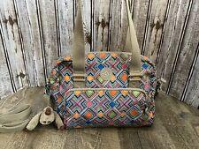 Kipling Bag Purse Multicolor Diamond Print Felicia With Crossbody Strap