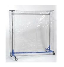 Z Rack Cover Clear Plastic Heavy Duty Rolling Clothing Garment Clothes 66x63