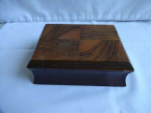Art Deco Wooden Cigarette Box or Trinket Box Height 5 cm x 14 cm x 10 cm