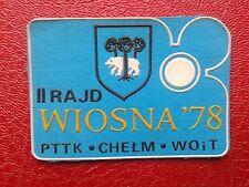 PTTK Chelm WOiT II Rajd Wiosna'78 - Naszywka