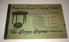 Antique Victorian Game Table Advertising, Carrom Co. Ten Pins Rules! Michigan!