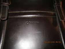 Preowned Brown Leather FRANKLIN COVEY Lap Top Brief Case Bag Business Tote