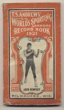1921 TS Andrews Worlds Sporting Annual Record Book Jack Dempsey
