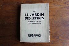 dans le jardin des lettres - ed. synd. Editeurs, journées du livre 1936